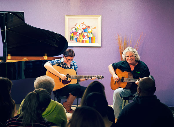 Guitar lessons for both adults and children in Huntington Beach School of Music